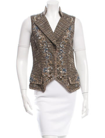 Carolina Herrera Embellished Vest None