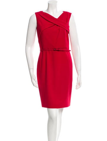 Carolina Herrera Wool Belted Dress None