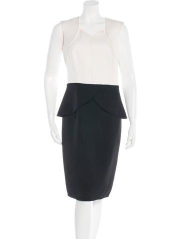 Carolina Herrera Virgin Wool Midi Dress None