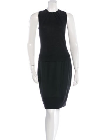 Carolina Herrera Sleeveless Wool Dress None