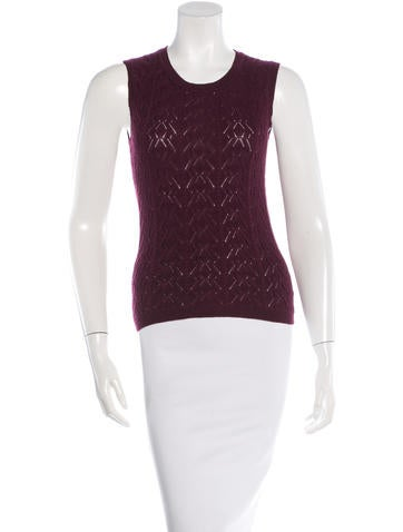 Carolina Herrera Virgin Wool Knit Top None