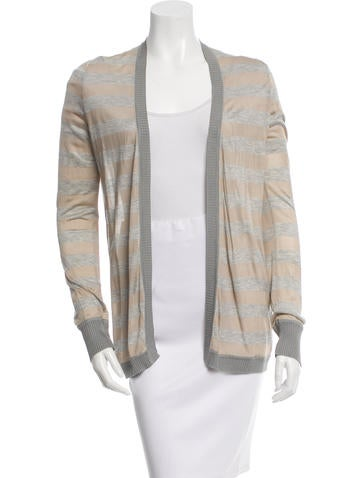 Carolina Herrera Striped Silk Cardigan None