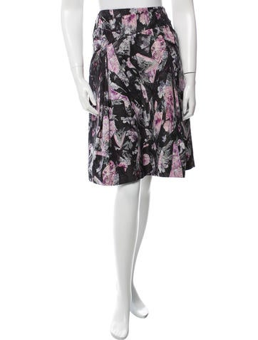 Carolina Herrera Silk-Blend Printed Skirt None