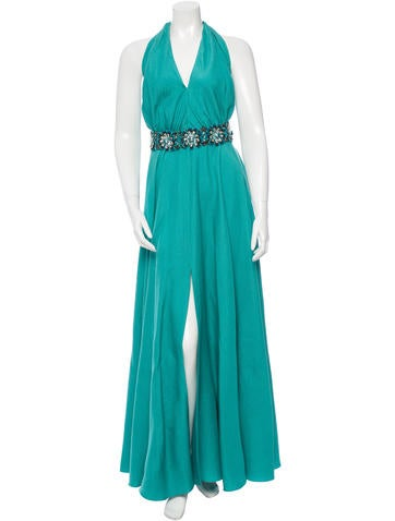 Carolina Herrera Silk-Blend Maxi Dress None