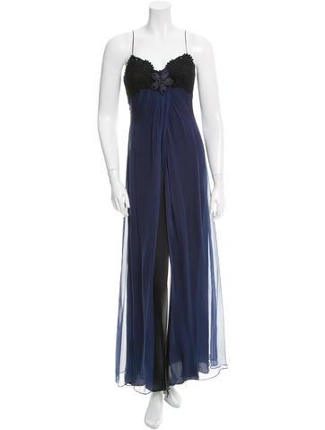 Carolina Herrera Draped Maxi Dress