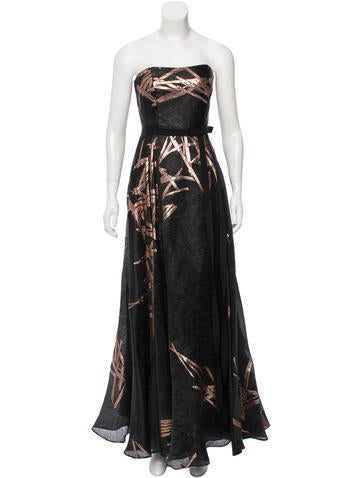 Carolina Herrera Silk-Blend Strapless Gown None