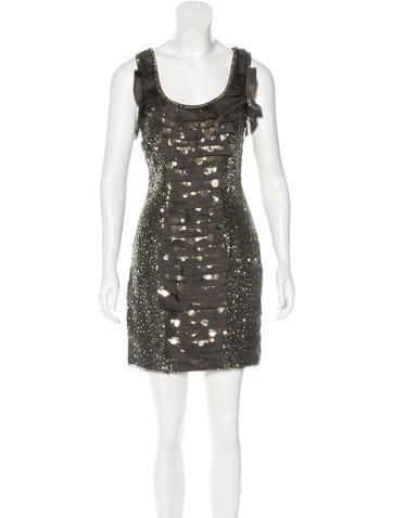 Carolina Herrera Embellished Silk Dress w/ Tags