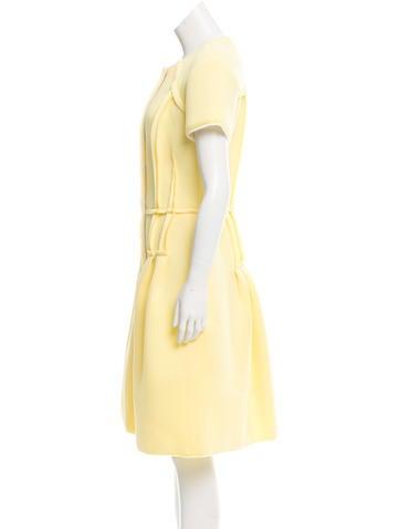 Textured Neoprene Dress