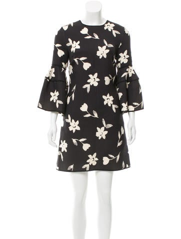 Carolina Herrera 2017 Wool Floral Dress None