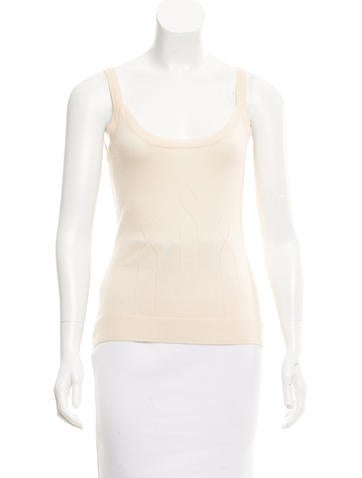 Carolina Herrera Cashmere Sleeveless Knit Top None