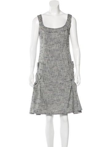 Carolina Herrera Silk-Blend Sleeveless Dress None