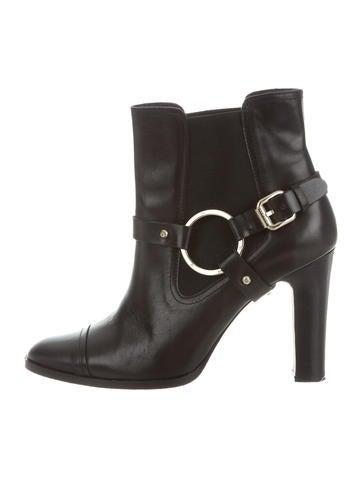 Carolina Herrera Leather Ankle Boots