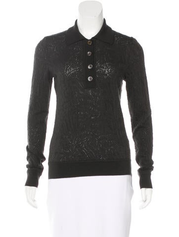 Carolina Herrera Cashmere & Silk-Blend Long Sleeve Sweater None