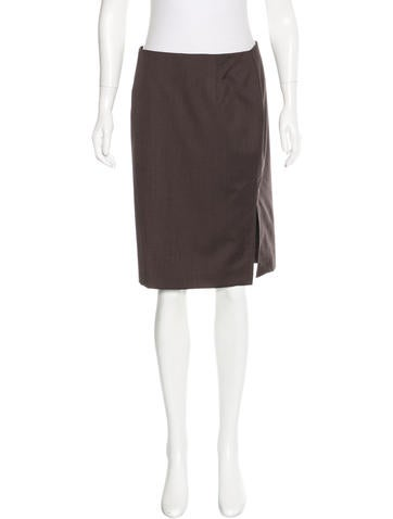 Carolina Herrera Virgin Wool & Silk-Blend Skirt None