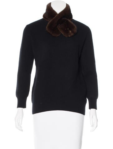 Carolina Herrera Mink-Accented Cashmere Sweater None