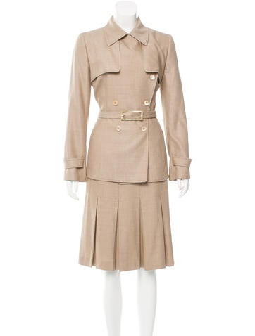 Carolina Herrera Wool & Silk-Blend Skirt Suit None