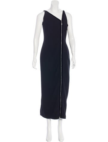 Carolina Herrera Zip-Accented Wool Dress None