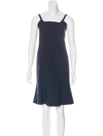Carolina Herrera Virgin Wool Sleeveless Dress None
