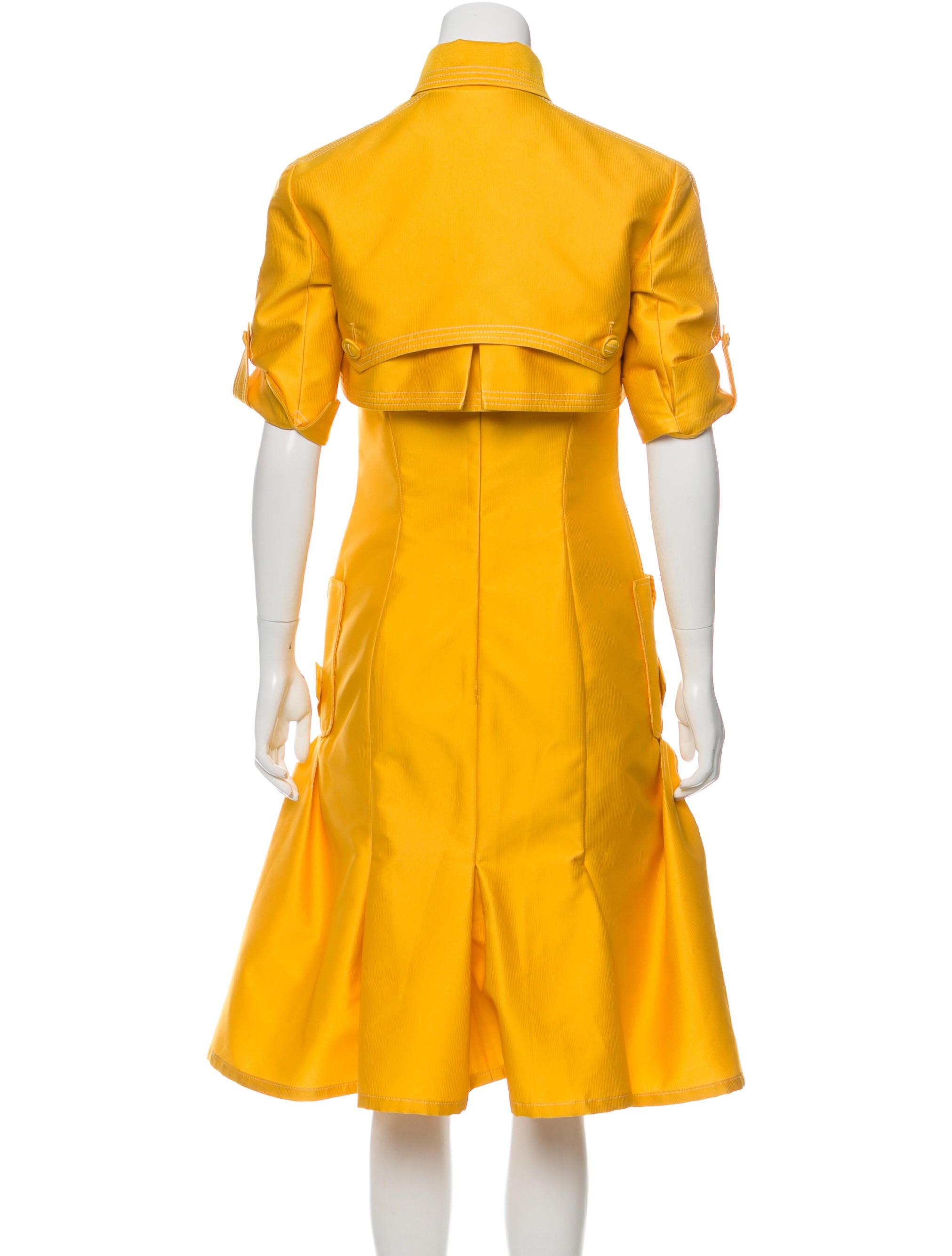 carolina herrera pleated midi dress set clothing