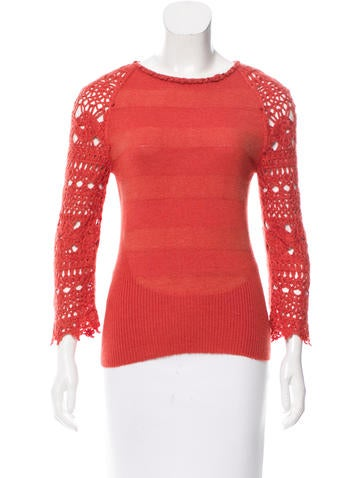 Carolina Herrera Cashmere & Silk-Blend Sweater None