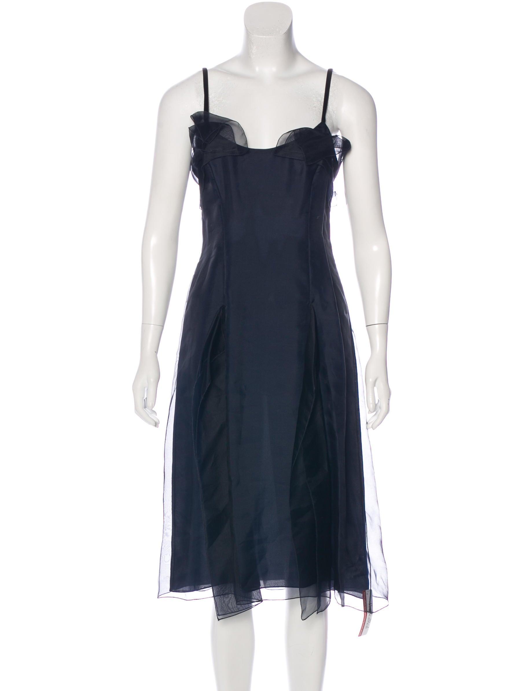 carolina herrera silk overlay dress clothing cao29289