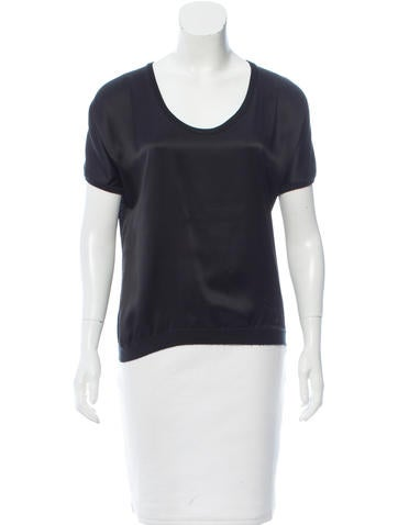 Carolina Herrera Silk & Cashmere Top None