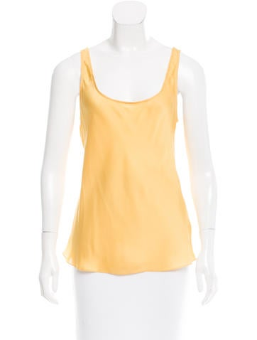 Carolina Herrera Silk Sleeveless Top None