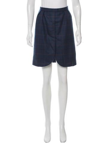Carolina Herrera Wool Plaid Skirt None