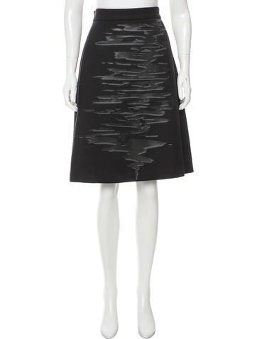 Carolina Herrera Wool Knee-Length Skirt None