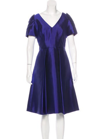 Carolina Herrera Silk-Blend Midi Dress None