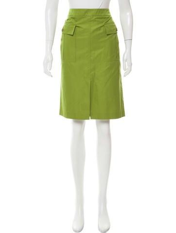carolina herrera satin a line skirt clothing cao29711