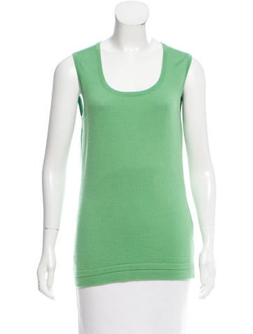 Carolina Herrera Sleeveless Virgin Wool Top None
