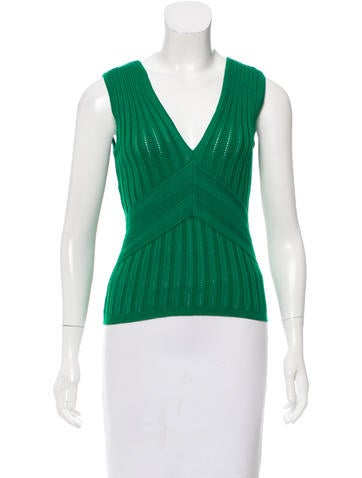 Carolina Herrera Sleeveless  Knit Top None