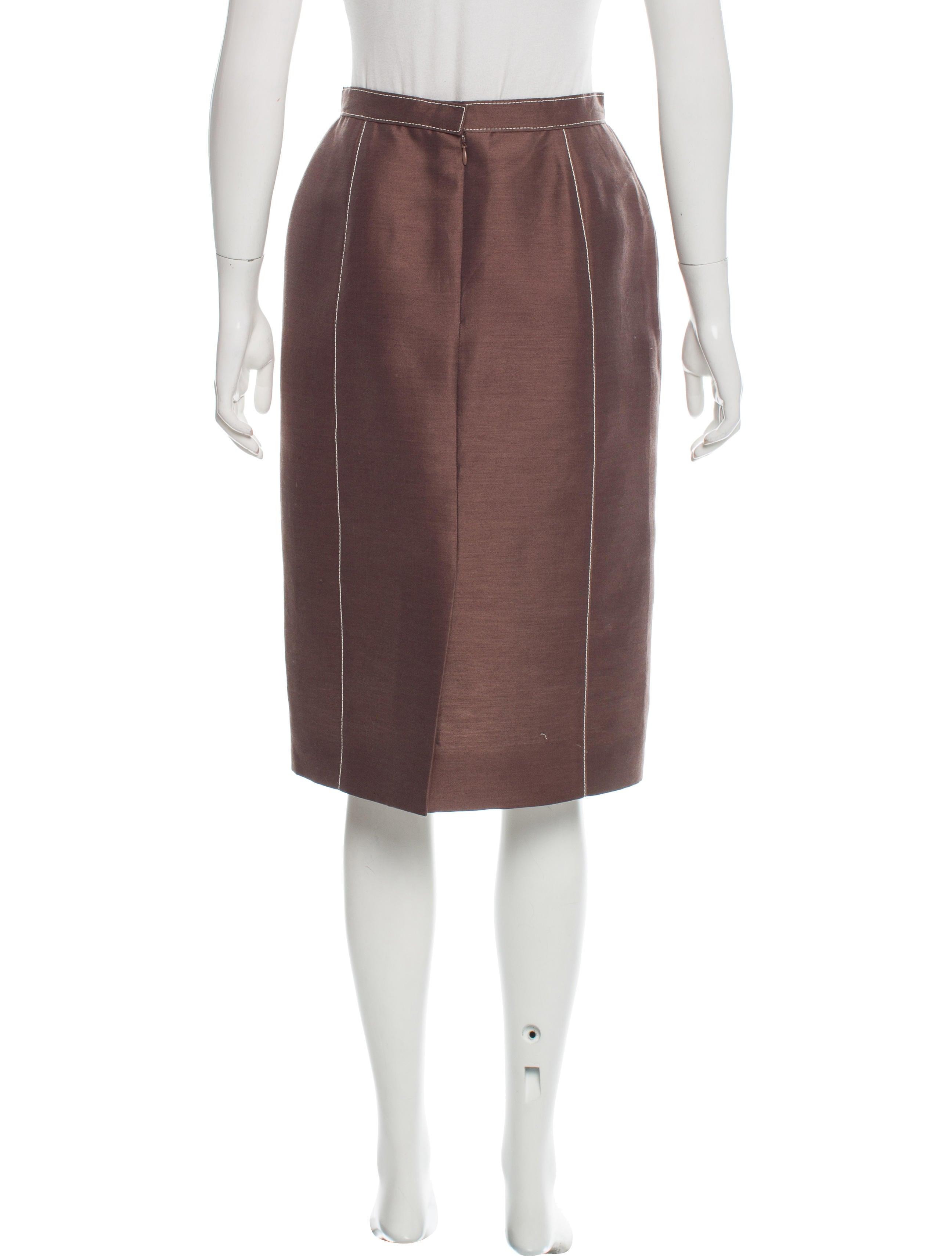 Carolina Herrera Knee-Length Pencil Skirt