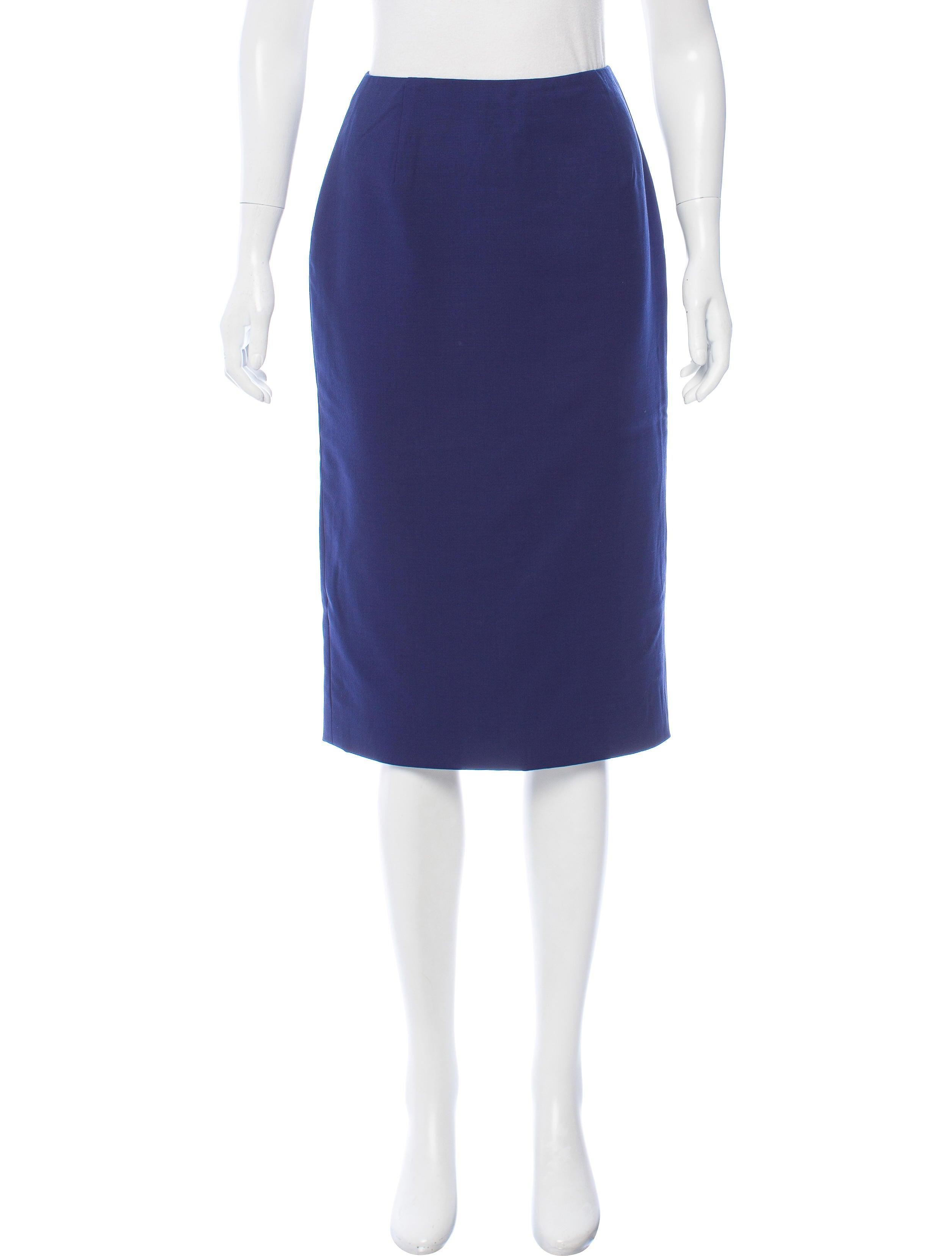 carolina herrera knee length pencil skirt clothing