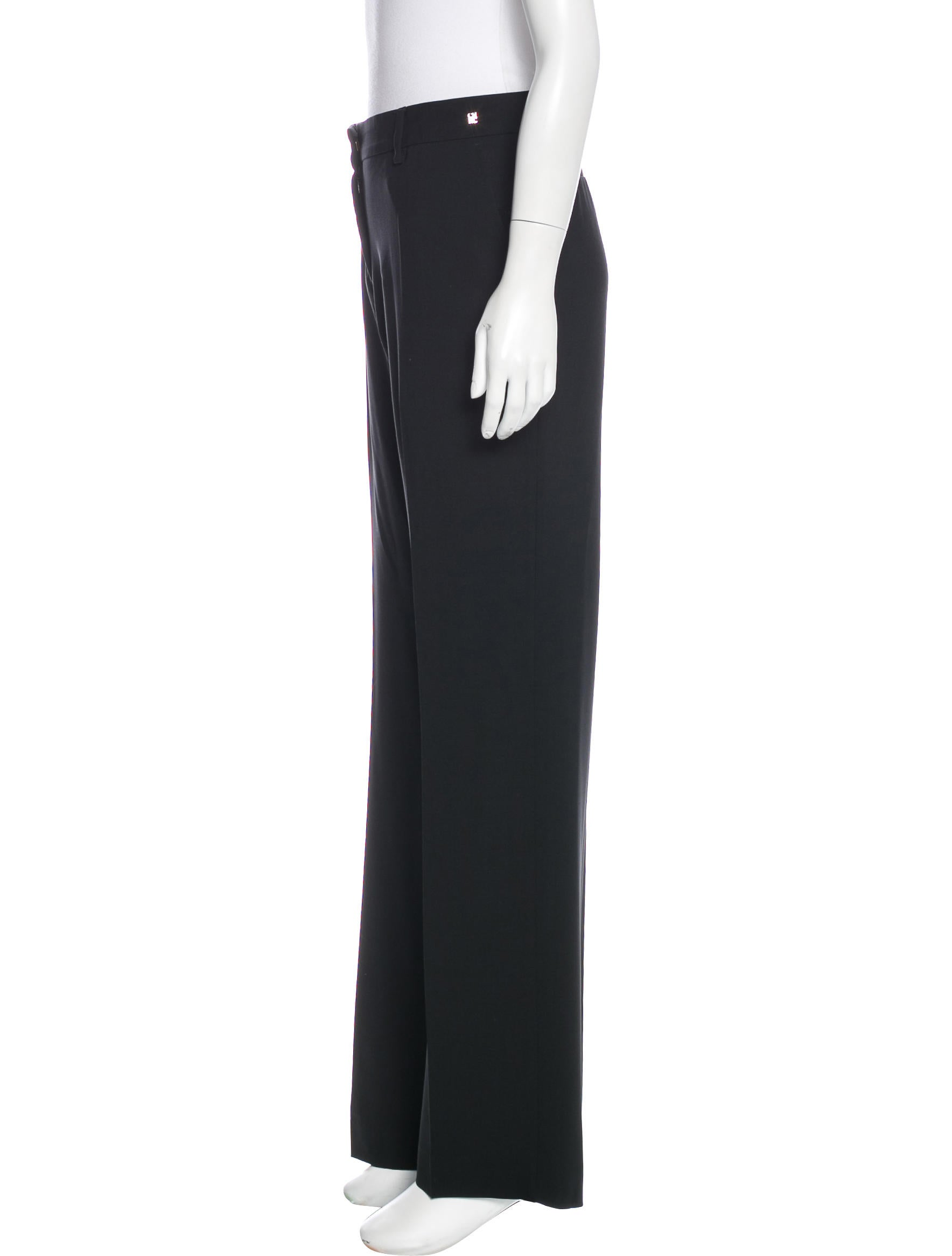 Carolina Herrera Wool Mid Rise Pants Clothing CAO30580  : CAO305802enlarged from www.therealreal.com size 1768 x 2333 jpeg 78kB