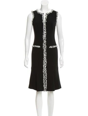 Carolina Herrera Wool Sleeveless Dress None