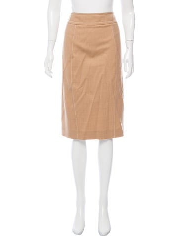 Carolina Herrera Wool Knee-Length Skirt None
