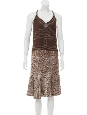 Carolina Herrera Embellished Knee-Length Skirt Set None