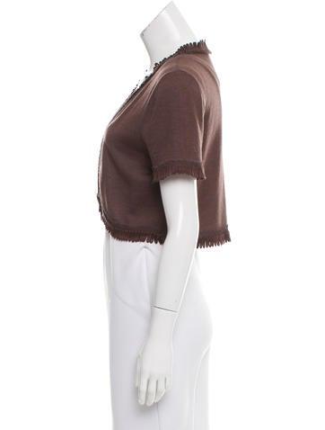 Wool Cropped Cardigan 111