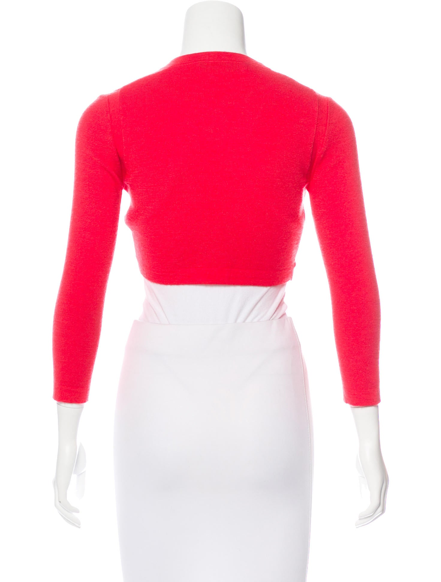 Carolina herrera cashmere cropped cardigan clothing Cao open source
