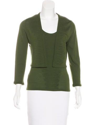 Carolina Herrera Wool Knit Cardigan Set None