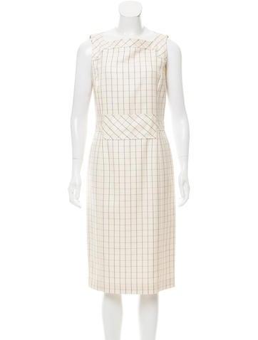 Carolina Herrera Silk & Wool Midi Dress w/ Tags None