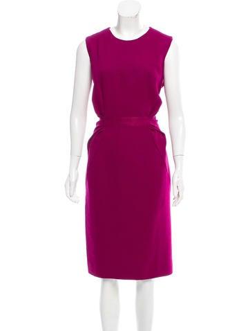 Carolina Herrera Wool Midi Dress None