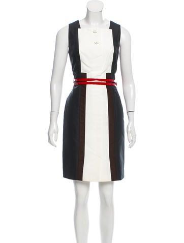 Carolina Herrera Sleeveless Belted Dress None
