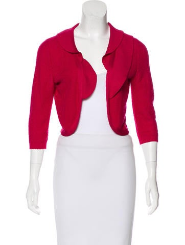 Carolina Herrera Silk-Blend Open Front Cardigan None