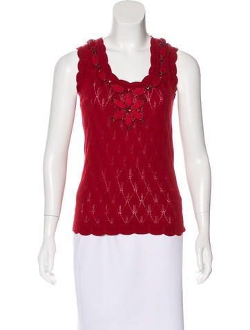 Carolina Herrera Wool Embellished Top None
