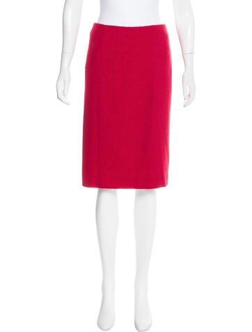 Carolina Herrera Wool Pencil Skirt None