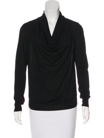Carolina Herrera Wool Cowl Neck Top None