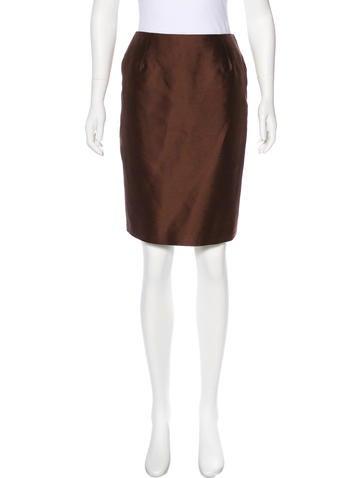 Carolina Herrera Wool & Silk Knee-Length Skirt None